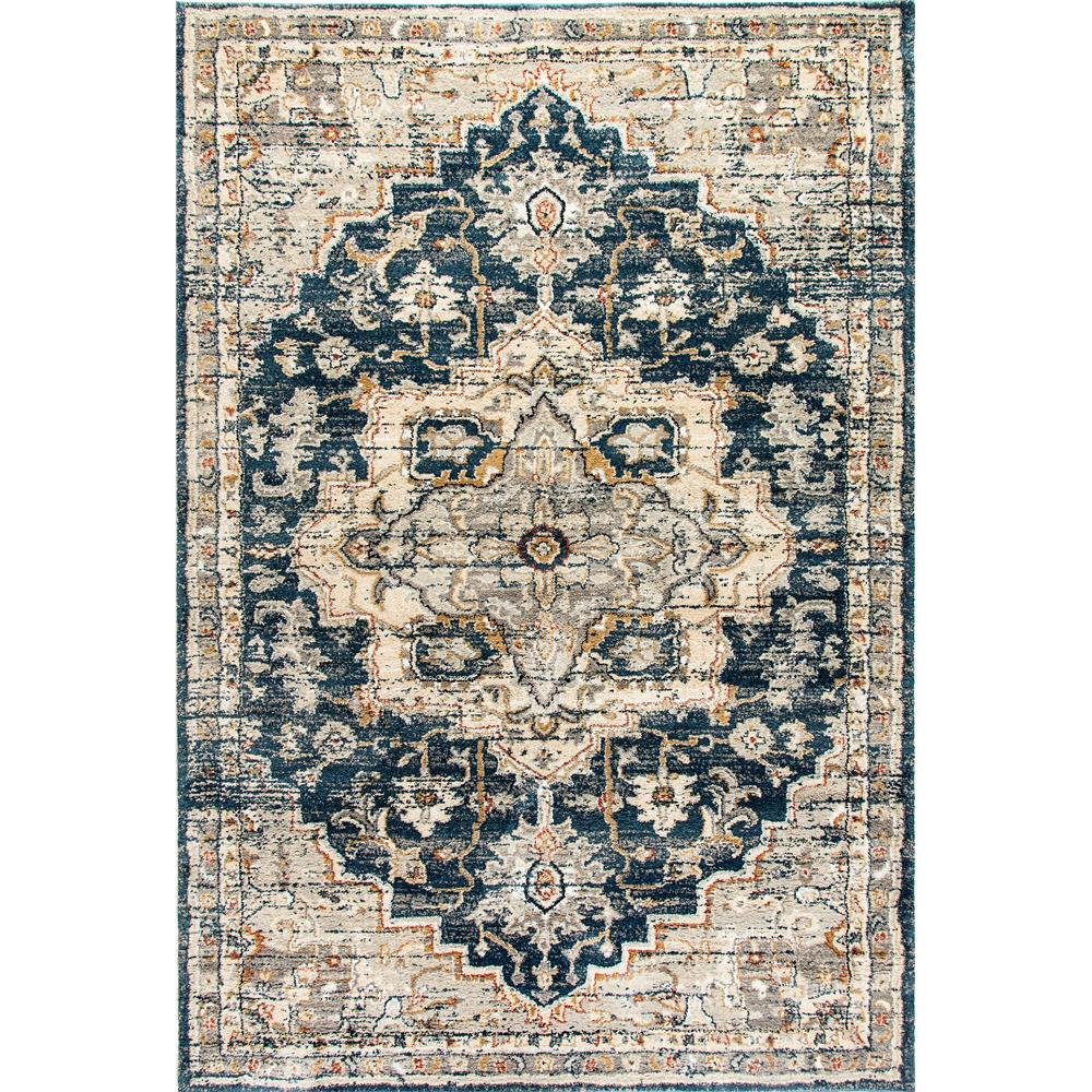 Dynamic Rugs  4770-550 Evolution 9 Ft. 2 In. X 12 Ft. 10 In. Rectangle Rug in Navy