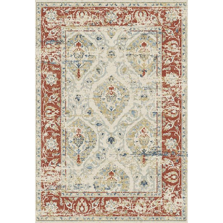 Dynamic Rugs  55780-130 Essence 2 Ft. X 3 Ft. 11 In. Rectangle Rug in Ivory/Red