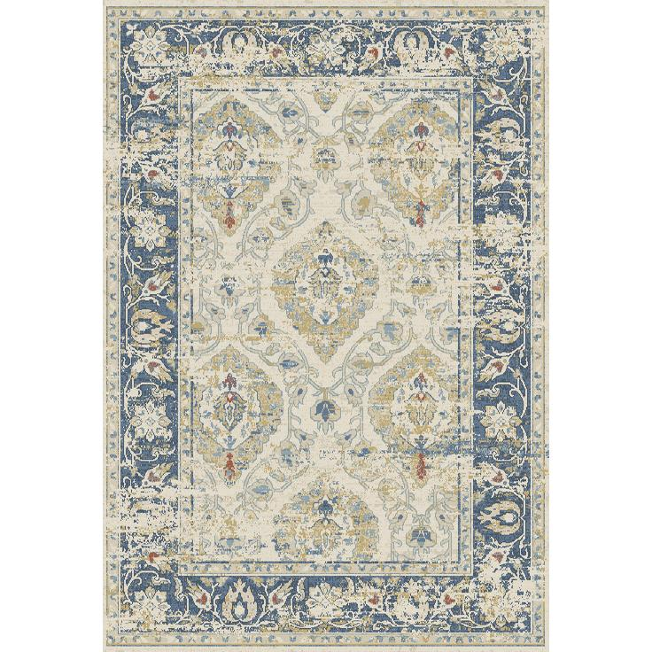 Dynamic Rugs  55780-150 Essence 2 Ft. X 3 Ft. 11 In. Rectangle Rug in Ivory/Blue