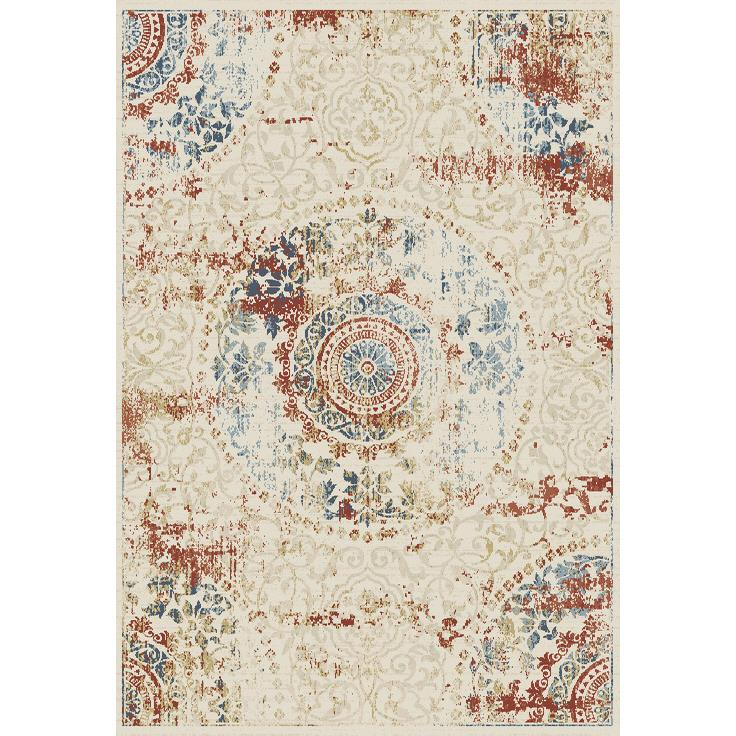 Dynamic Rugs  55800-100 Essence 2 Ft. X 3 Ft. 11 In. Rectangle Rug in Ivory/Multi