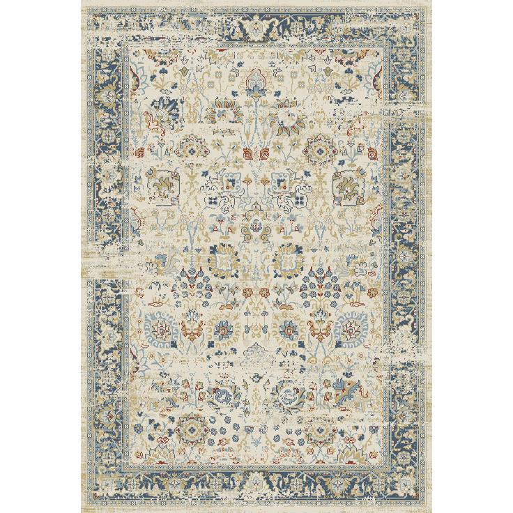 Dynamic Rugs  55870-150 Essence 2 Ft. X 3 Ft. 11 In. Rectangle Rug in Ivory/Light Blue
