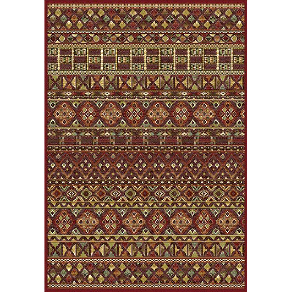 Dynamic Rugs 38152-1212 Genova 2 Ft. 2 In. X 7 Ft. 7 In. Runner Rug in Browns