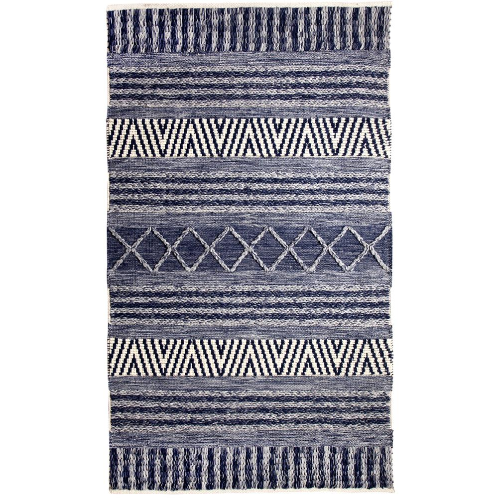 Dynamic Rugs  91003-108 Heirloom 2 Ft. X 4 Ft. Rectangle Rug in Blue/Ivory