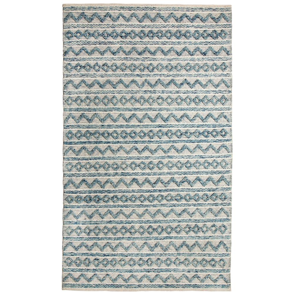 Dynamic Rugs  91004-144 Heirloom 2 Ft. X 4 Ft. Rectangle Rug in Teal/Ivory