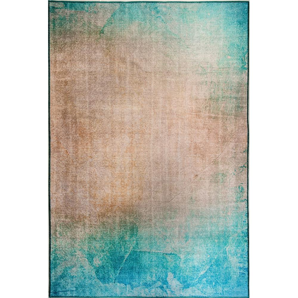 Dynamic Rugs  8874-580 Illusion 2 Ft. 1 In. X 3 Ft. 6 In. Rectangle Rug in Turquoise / Beige