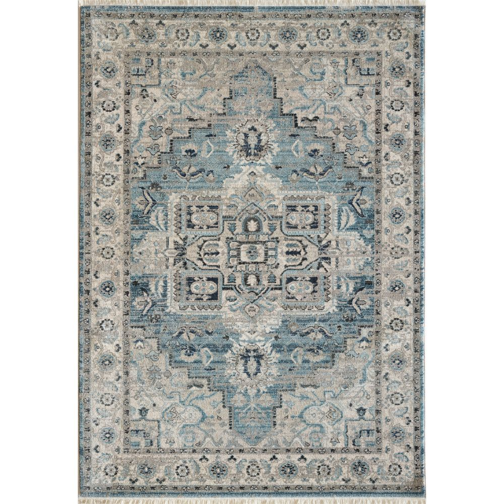 Dynamic Rugs 6882 500 Juno 3 Ft. 11 In. X 5 Ft. 7 In. Rectangle Rug in Light Blue/Cream