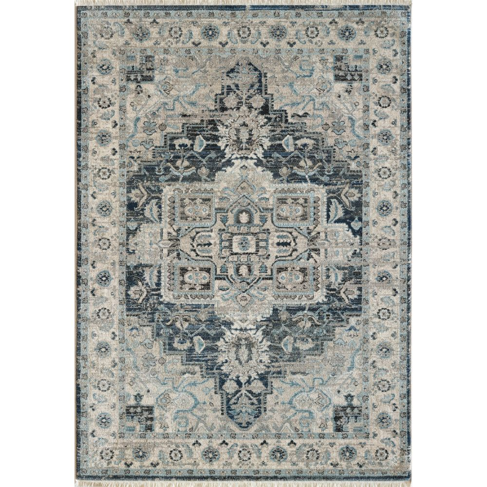 Dynamic Rugs 6882 590 Juno 9 Ft. 2 In. X 12 Ft. 6 In. Rectangle Rug in Dark Blue/Cream