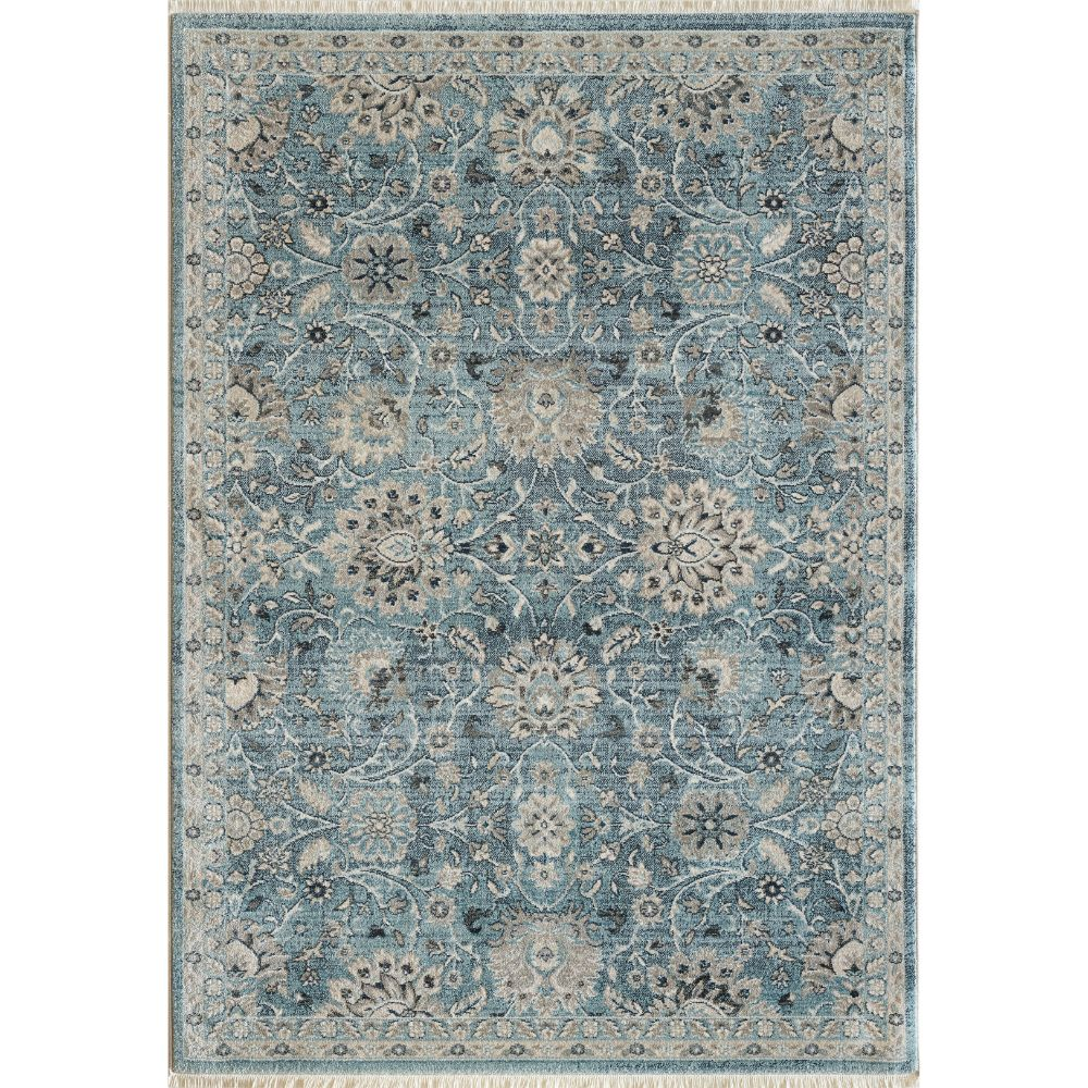 Dynamic Rugs 6883 500 Juno 3 Ft. 11 In. X 5 Ft. 7 In. Rectangle Rug in Light Blue