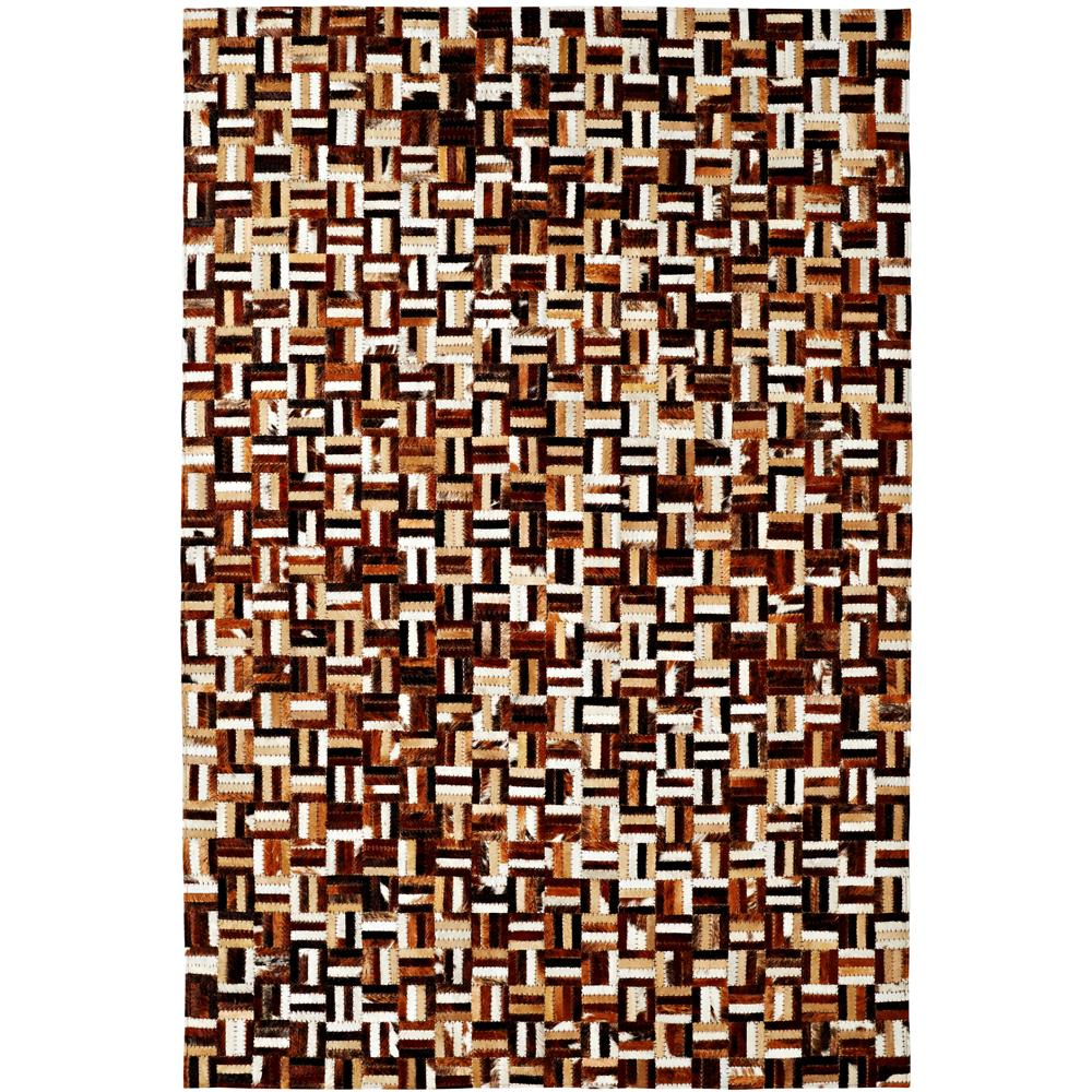 Dynamic Rugs 8108-666 Leatherwork 5 Ft. X 8 Ft. Rectangle Rug in Brown/Multi