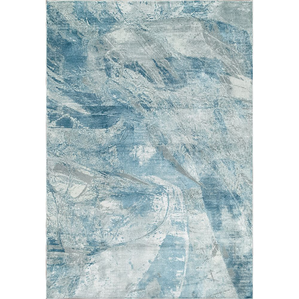 Dynamic Rugs 9864 Leda 9 Ft. 2 In. X 12 Ft. 10 In. Rectangle Rug in Ivory / Blue