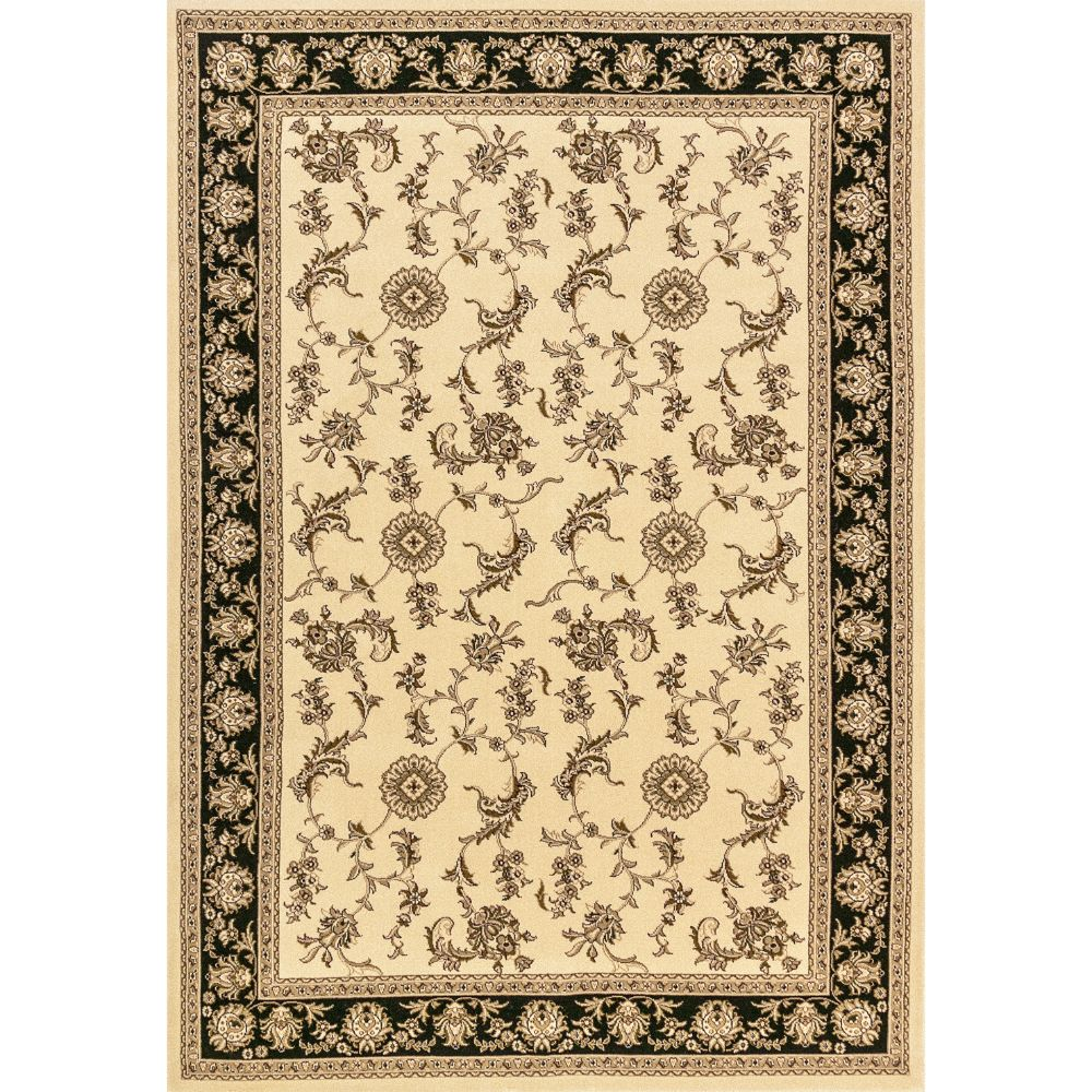 Dynamic Rugs 58017-190 Legacy 9 Ft. 2 In. X 12 Ft. 10 In. Rectangle Rug in Ivory/Black