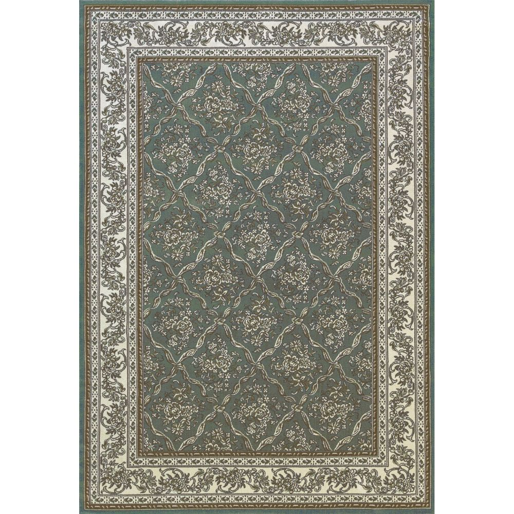 Dynamic Rugs  58018-510 Legacy 9 Ft. 2 In. X 12 Ft. 10 In. Rectangle Rug in Light Blue/Ivory