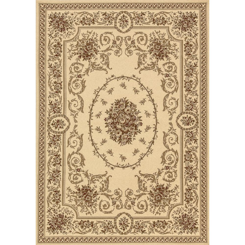 Dynamic Rugs 58022-100 Legacy 9 Ft. 2 In. X 12 Ft. 10 In. Rectangle Rug in Ivory