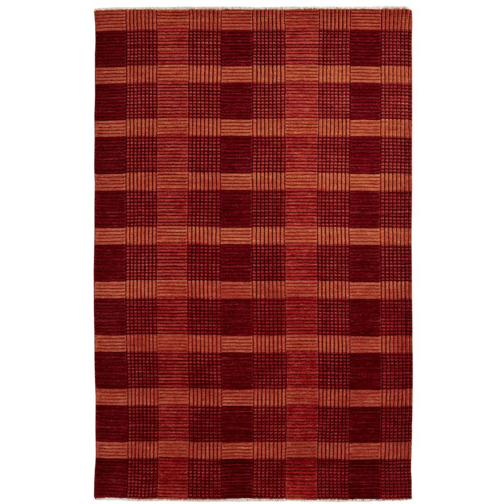 Dynamic Rugs 9899-330 Lounge 5 Ft. X 8 Ft. Rectangle Rug in Red