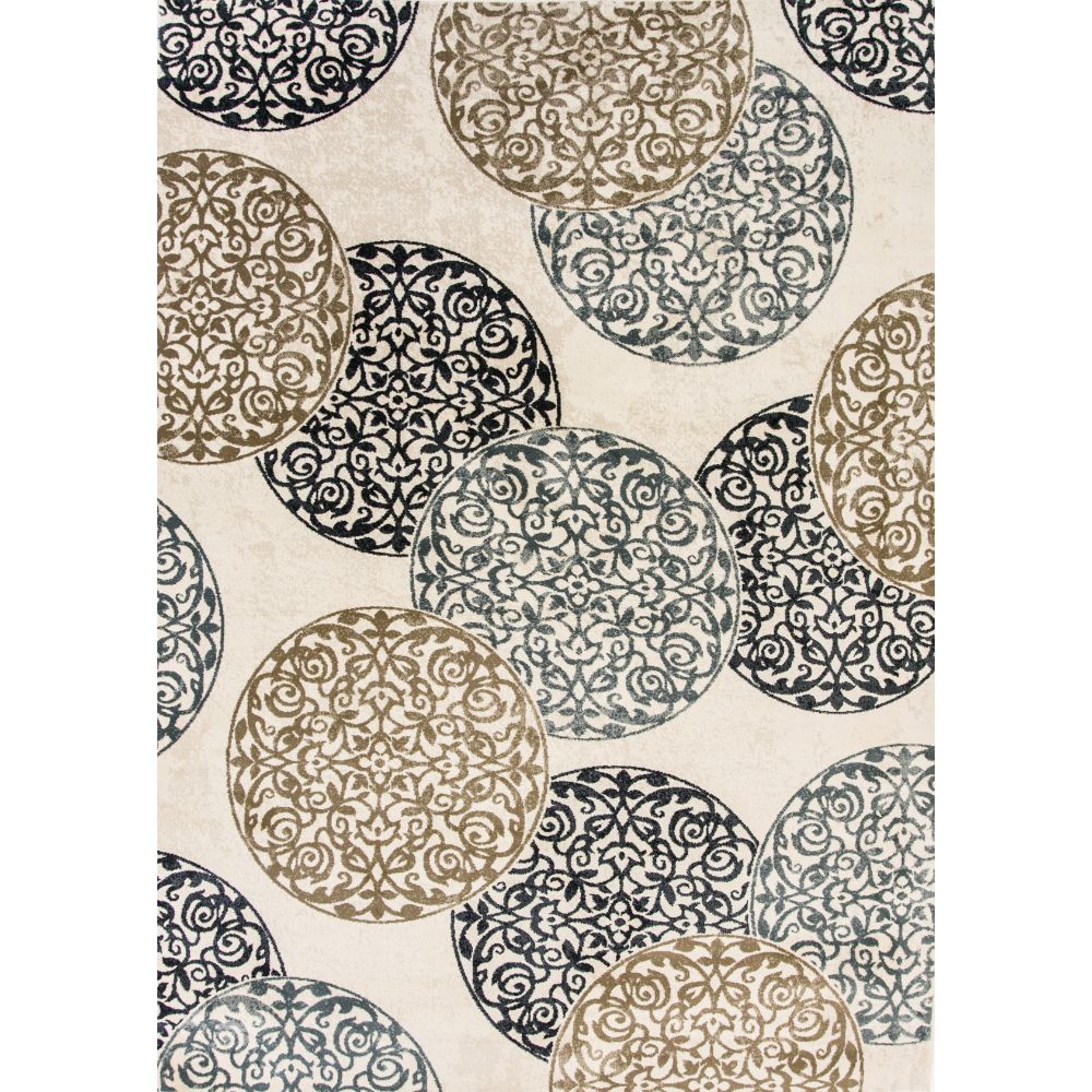 Dynamic Rugs 985014-118 Melody 9 Ft. 2 In. X 12 Ft. 10 In. Rectangle Rug in Ivory