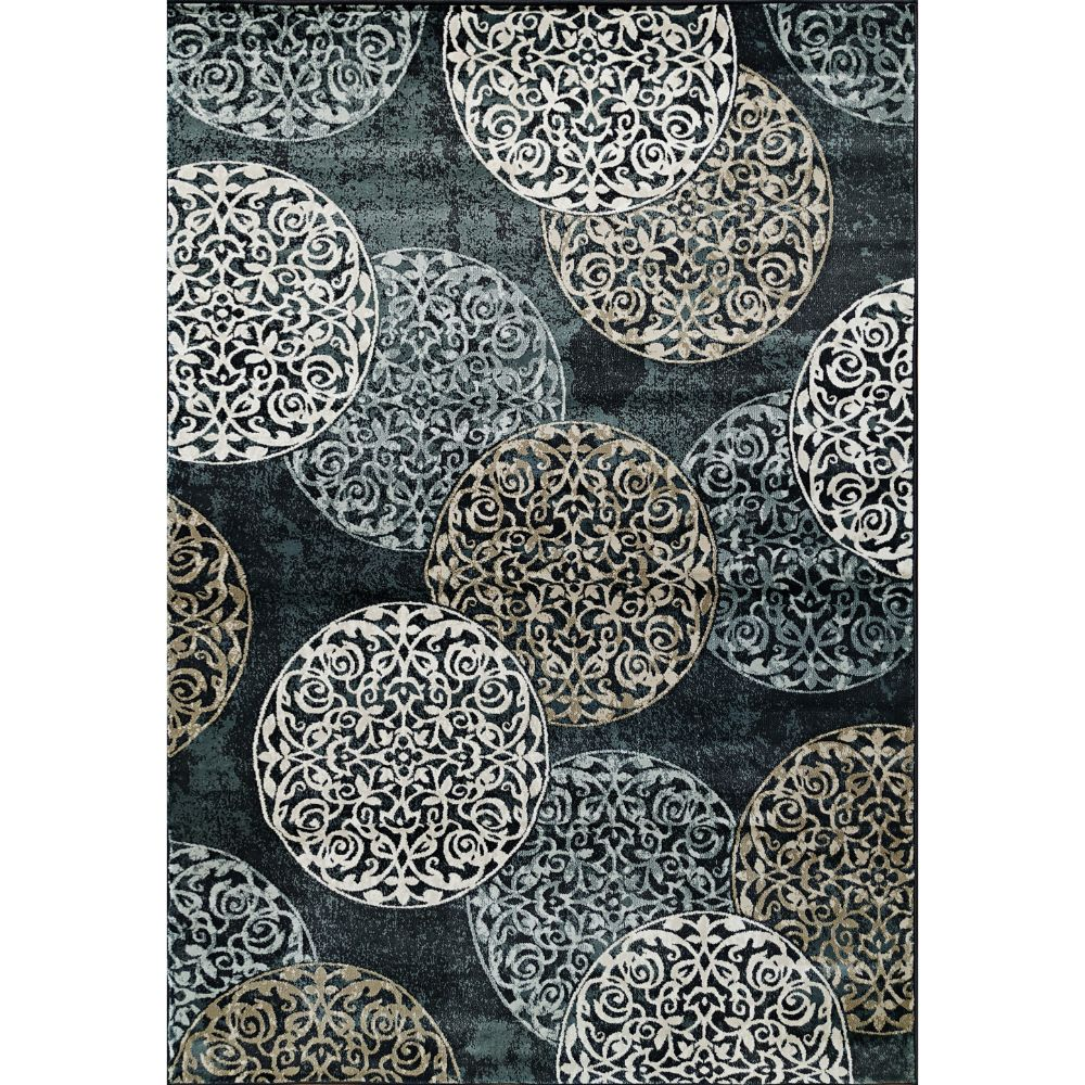 Dynamic Rugs 985014-997 Melody 9 Ft. 2 In. X 12 Ft. 10 In. Rectangle Rug in Blue