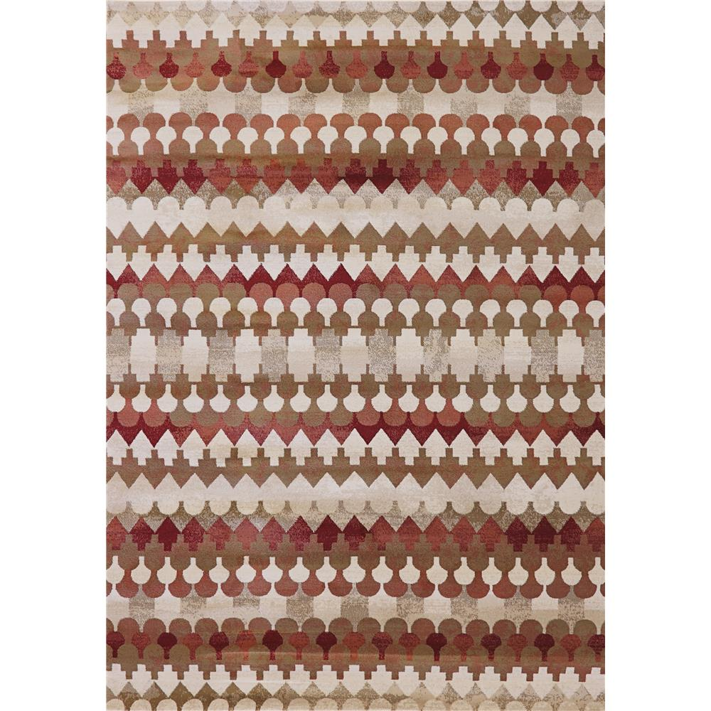 Dynamic Rugs 985016-339 Melody 2 Ft. 2 In. X 10 Ft. 10 In. Runner Rug in Red