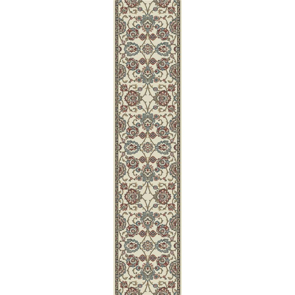 Dynamic Rugs 985020-414 Melody 2 Ft. 2 In. X 10 Ft. 10 In. Runner Rug in Ivory