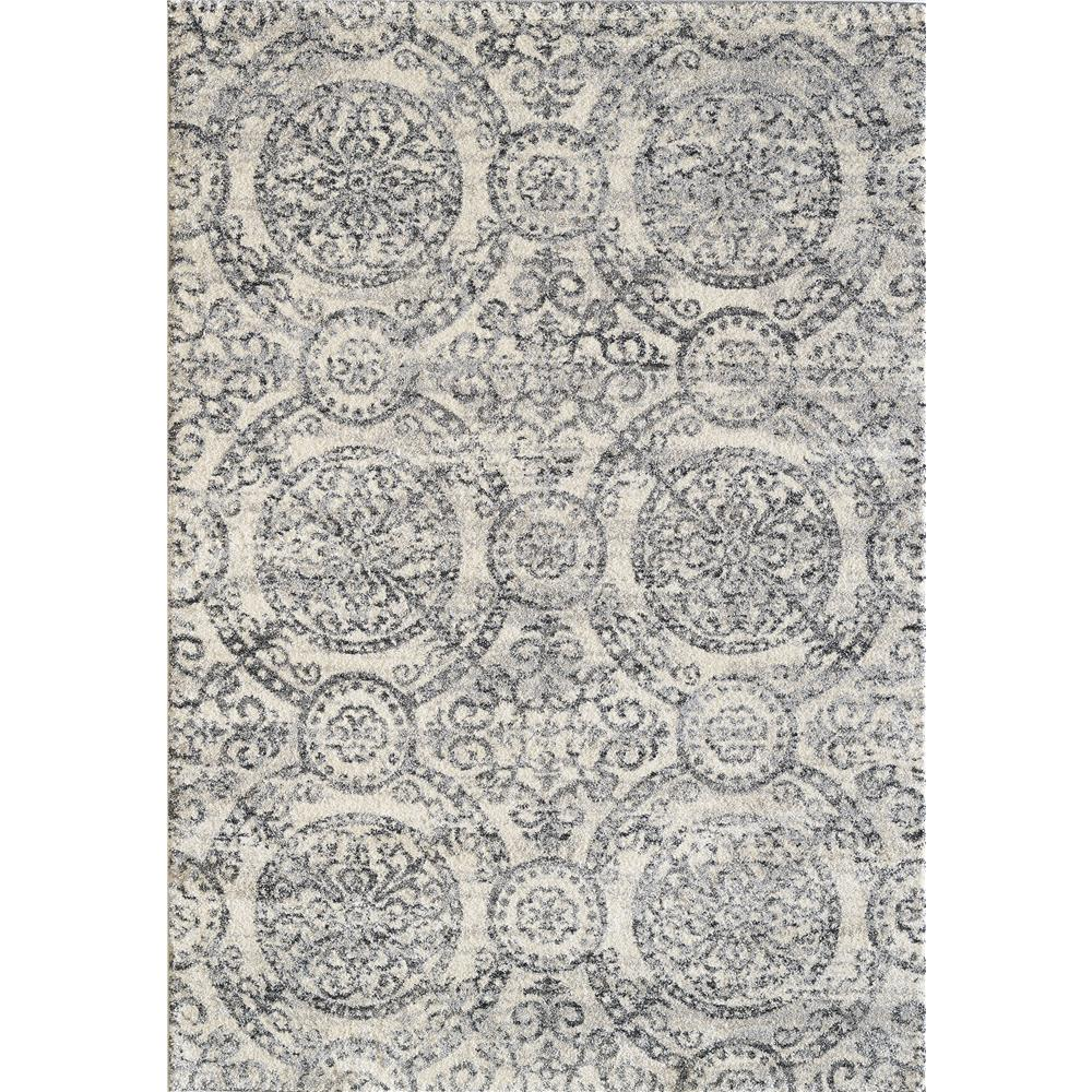 Dynamic Rugs 49112 190 Mirage 2 Ft. X 3 Ft. 11 In. Rectangle Rug in Ivory/Grey
