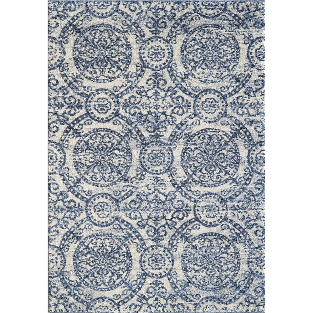 Dynamic Rugs 49112 500 Mirage 2 Ft. X 3 Ft. 11 In. Rectangle Rug in Blue