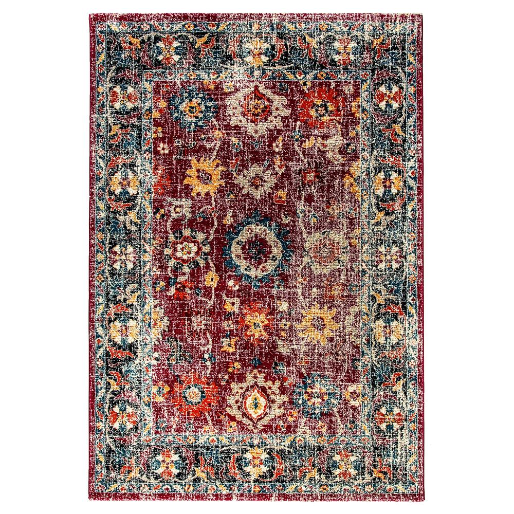 Dynamic Rugs  29015-997 Mod 2 Ft. X 3 Ft. 6 In. Rectangle Rug in Fuschia / Blue