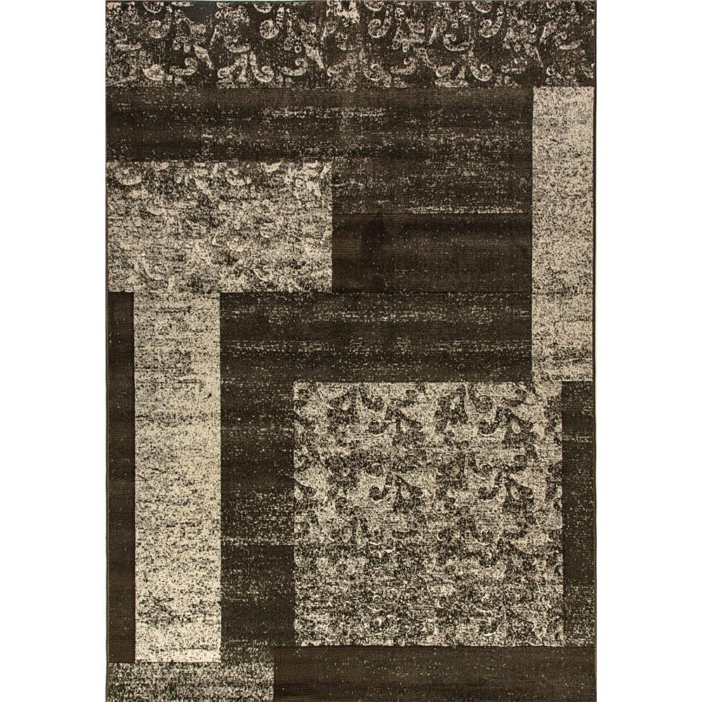 Dynamic Rugs 1207-900 Mysterio 5 Ft. 3 In. X 7 Ft. 7 In. Rectangle Rug in Silver