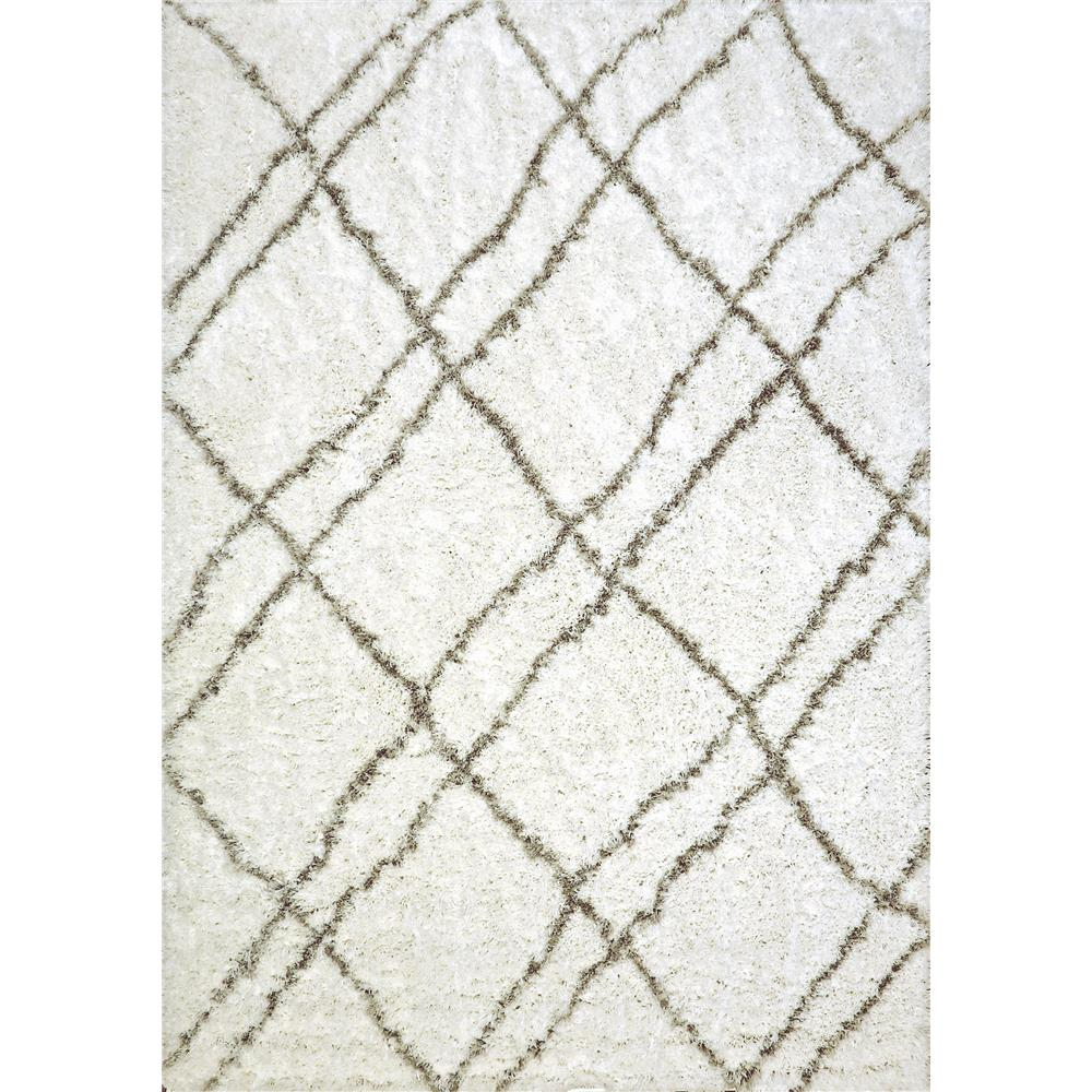 Dynamic Rugs 7431 Nordic 2 Ft. 7 In. X 5 Ft. Rectangle Rug in White/Silver
