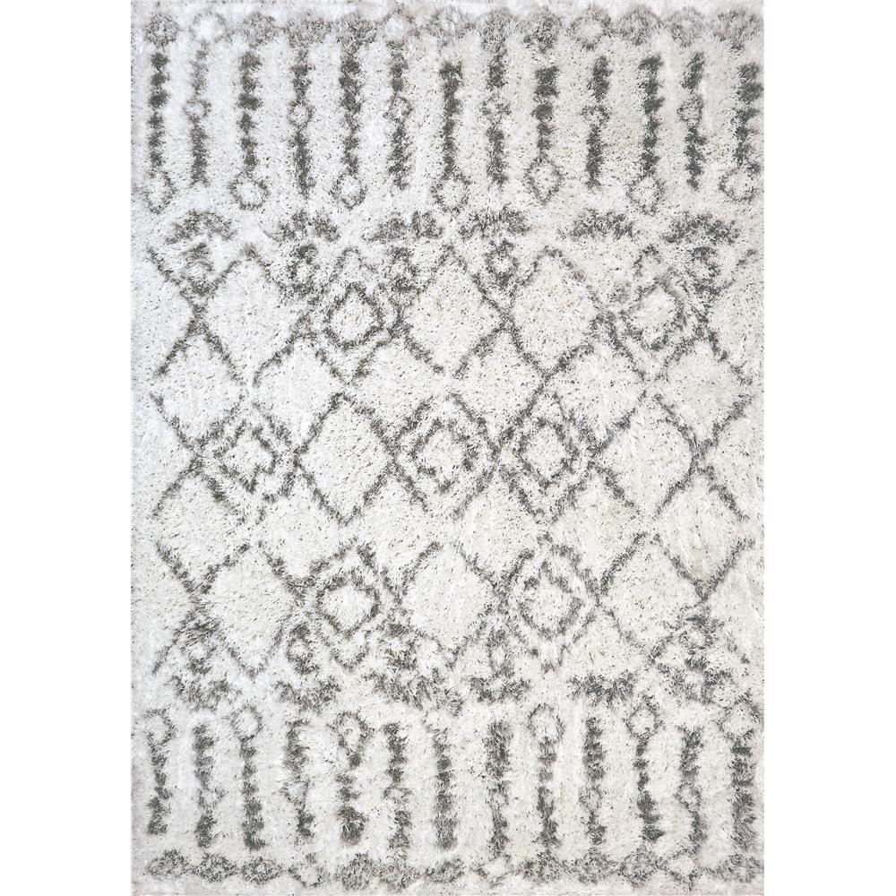Dynamic Rugs 7433 Nordic 2 Ft. 7 In. X 5 Ft. Rectangle Rug in White/Silver