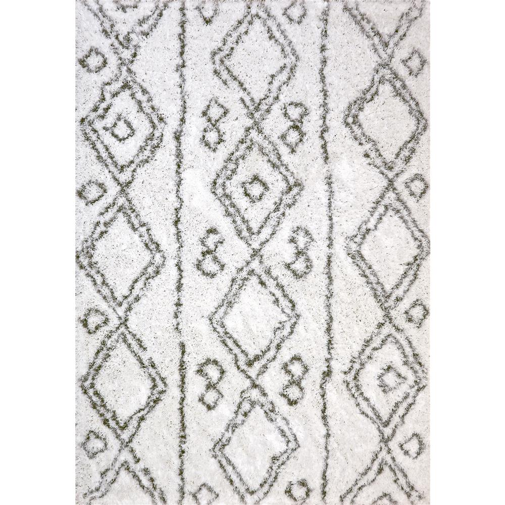 Dynamic Rugs 7434 Nordic 2 Ft. 7 In. X 5 Ft. Rectangle Rug in White/Silver