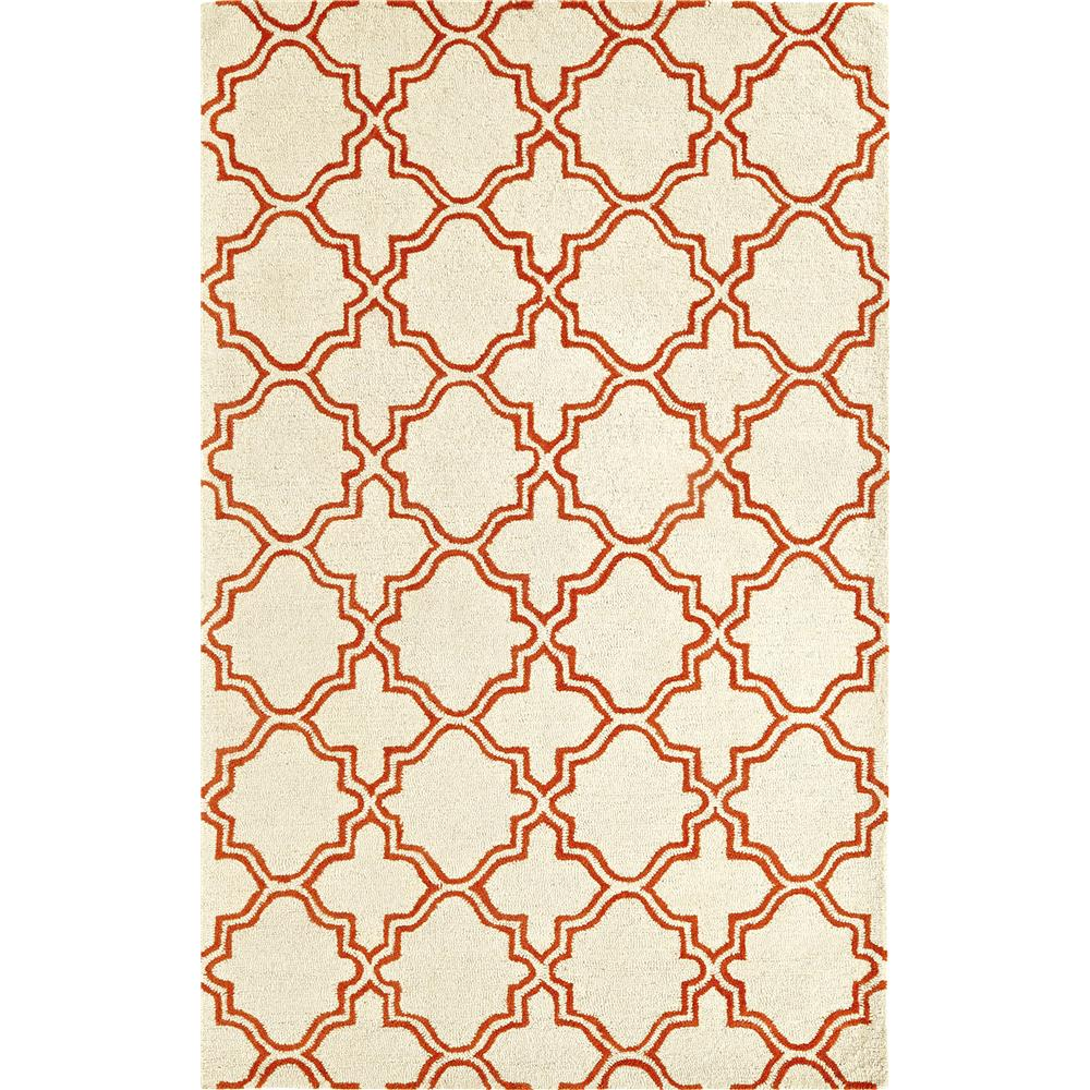 Dynamic Rugs 5568-119 Palace 9 Ft. 6 In. X 13 Ft. 6 In. Rectangle Rug in Ivory/Orange