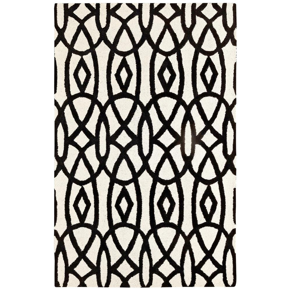 Dynamic Rugs 5570-119 Palace 9 Ft. 6 In. X 13 Ft. 6 In. Rectangle Rug in Ivory/Black