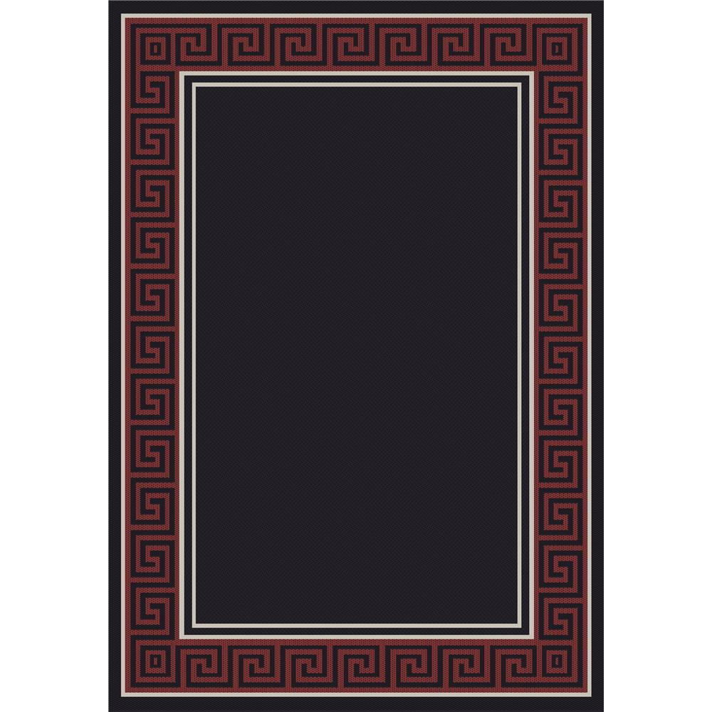 Dynamic Rugs 0720-6g78 Piazza 7 Ft. 10 In. X 10 Ft. 10 In. Rectangle Rug in Black/Red