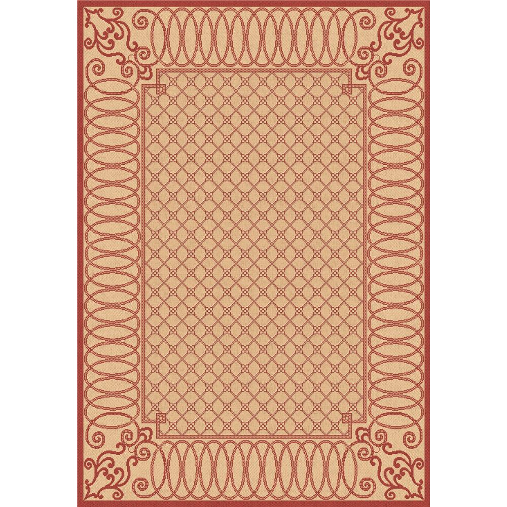 Dynamic Rugs 2587-3701 Piazza 3 Ft. 11 In. X 5 Ft. 7 In. Rectangle Rug in Beige/Red