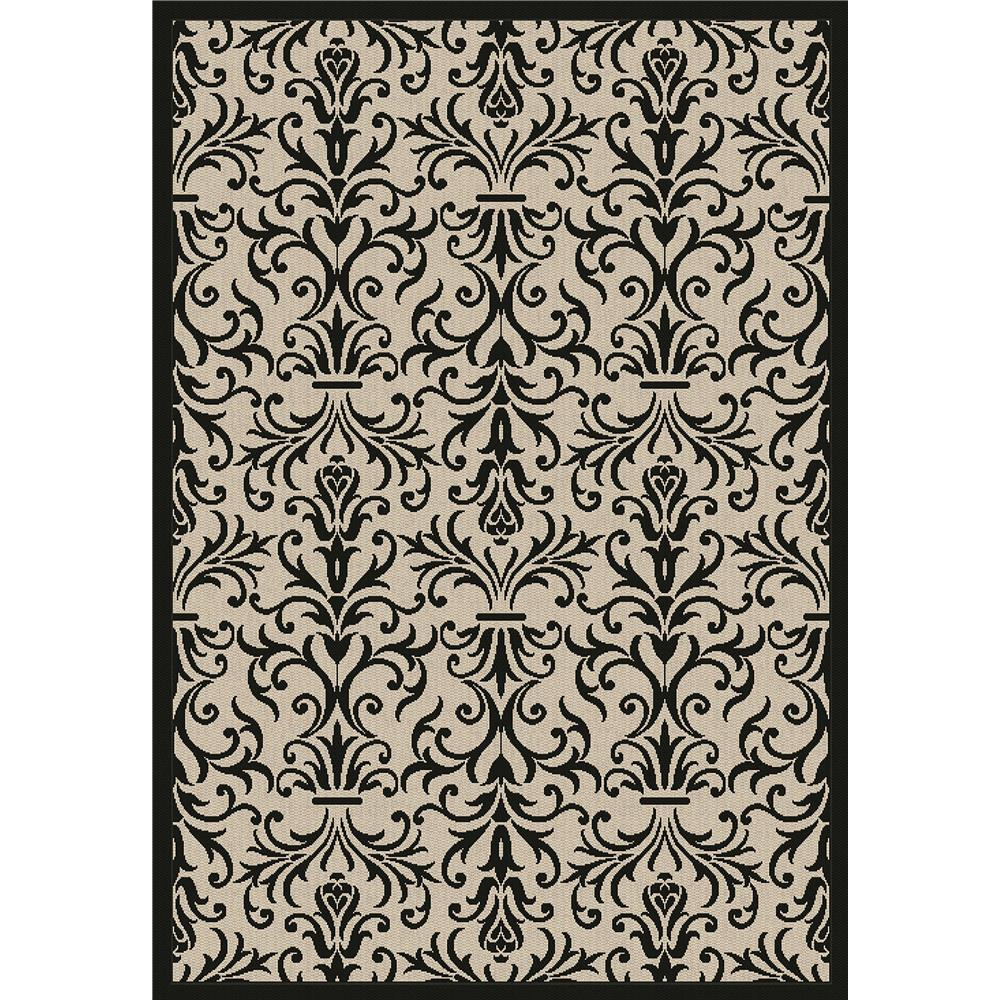 Dynamic Rugs 2742-3901 Piazza 2 Ft. X 3 Ft. 7 In. Rectangle Rug in Sand/Black