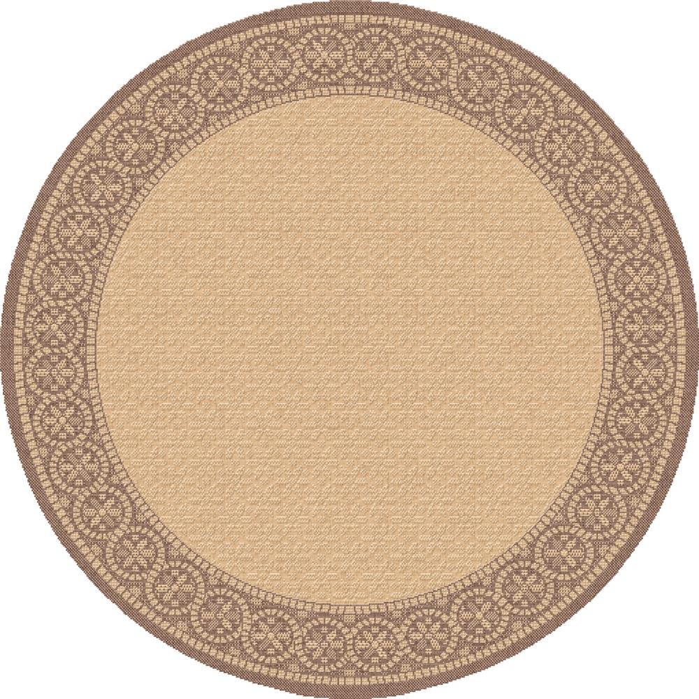Dynamic Rugs 2745-3091 Piazza 5 Ft. 3 In. Round Rug in Brown