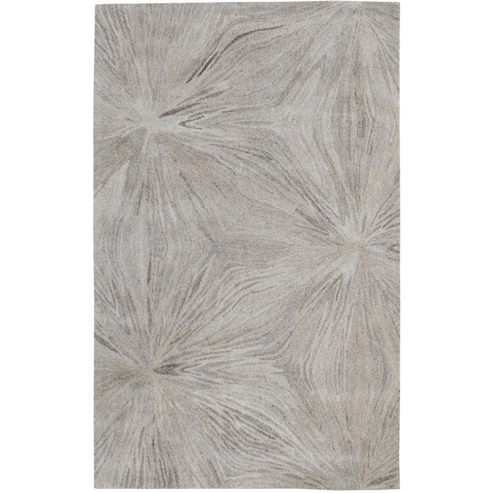 Dynamic Rugs 7802-717 Posh 4 Ft. X 6 Ft. Rectangle Rug in Grays