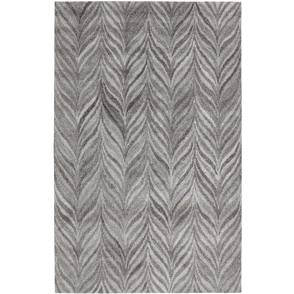 Dynamic Rugs 7806-719 Posh 2 Ft. X 4 Ft. Rectangle Rug in Grays