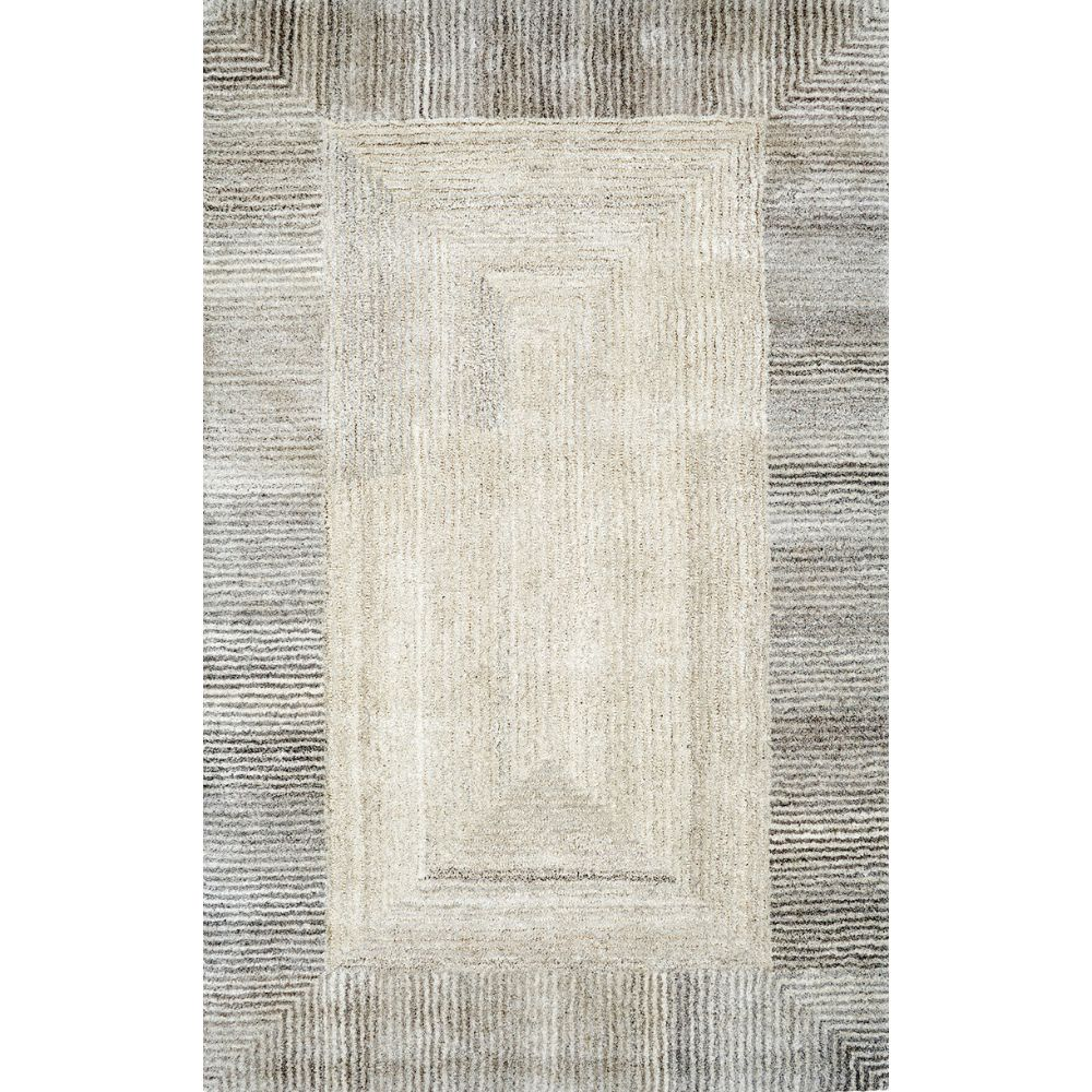 Dynamic Rugs 7810-727 Posh 6 Ft. 7 In. X 9 Ft. 6 In. Rectangle Rug in Grays