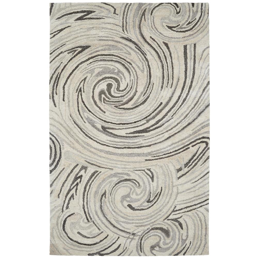 Dynamic Rugs 7811-717 Posh 2 Ft. X 4 Ft. Rectangle Rug in Grays