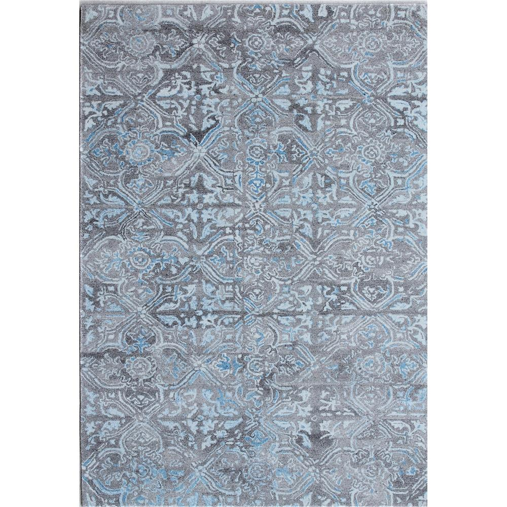 Dynamic Rugs  7815-950 Posh 2 Ft. X 4 Ft. Rectangle Rug in Grey / Blue