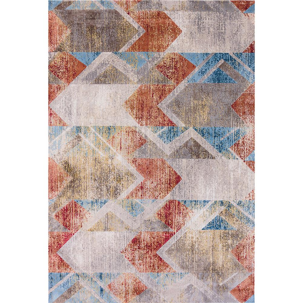 Dynamic Rugs  4433-190 Prism 9 Ft. 2 In. X 12 Ft. 10 In. Rectangle Rug in Grey/Multi