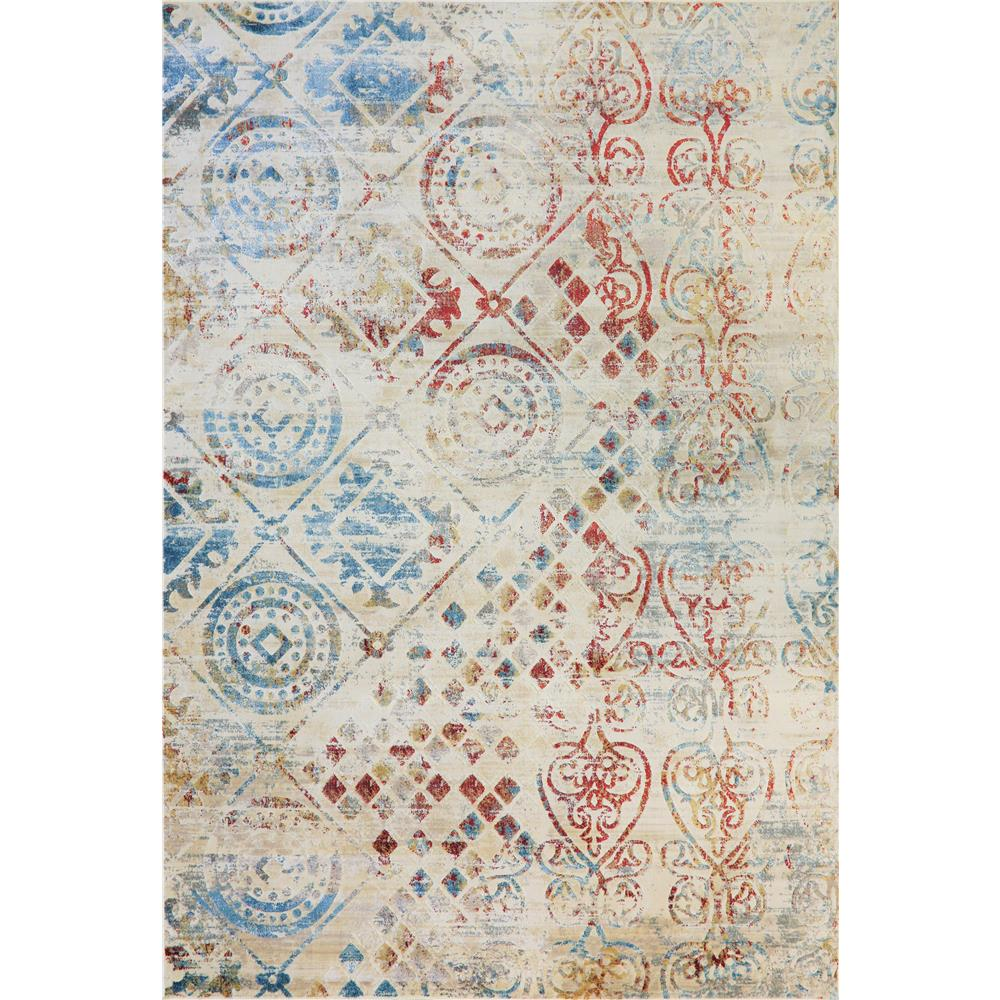 Dynamic Rugs  4434-109 Prism 9 Ft. 2 In. X 12 Ft. 10 In. Rectangle Rug in Ivory / Multi
