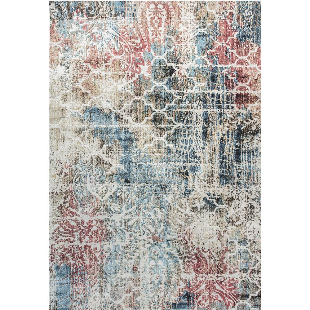 Dynamic Rugs  4442-150 Prism 9 Ft. 2 In. X 12 Ft. 10 In. Rectangle Rug in Rust/Multi