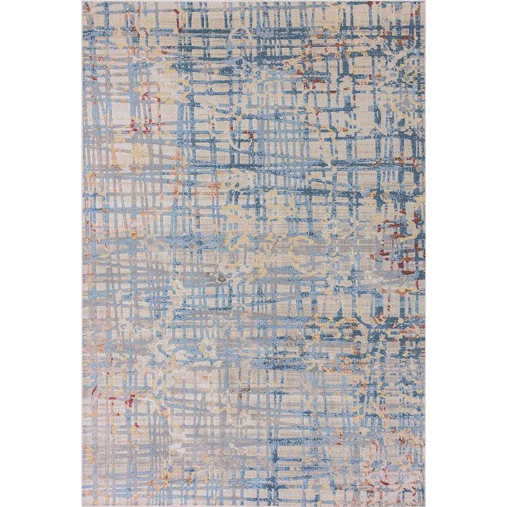 Dynamic Rugs  4443-150 Prism 9 Ft. 2 In. X 12 Ft. 10 In. Rectangle Rug in Ivory/Blue
