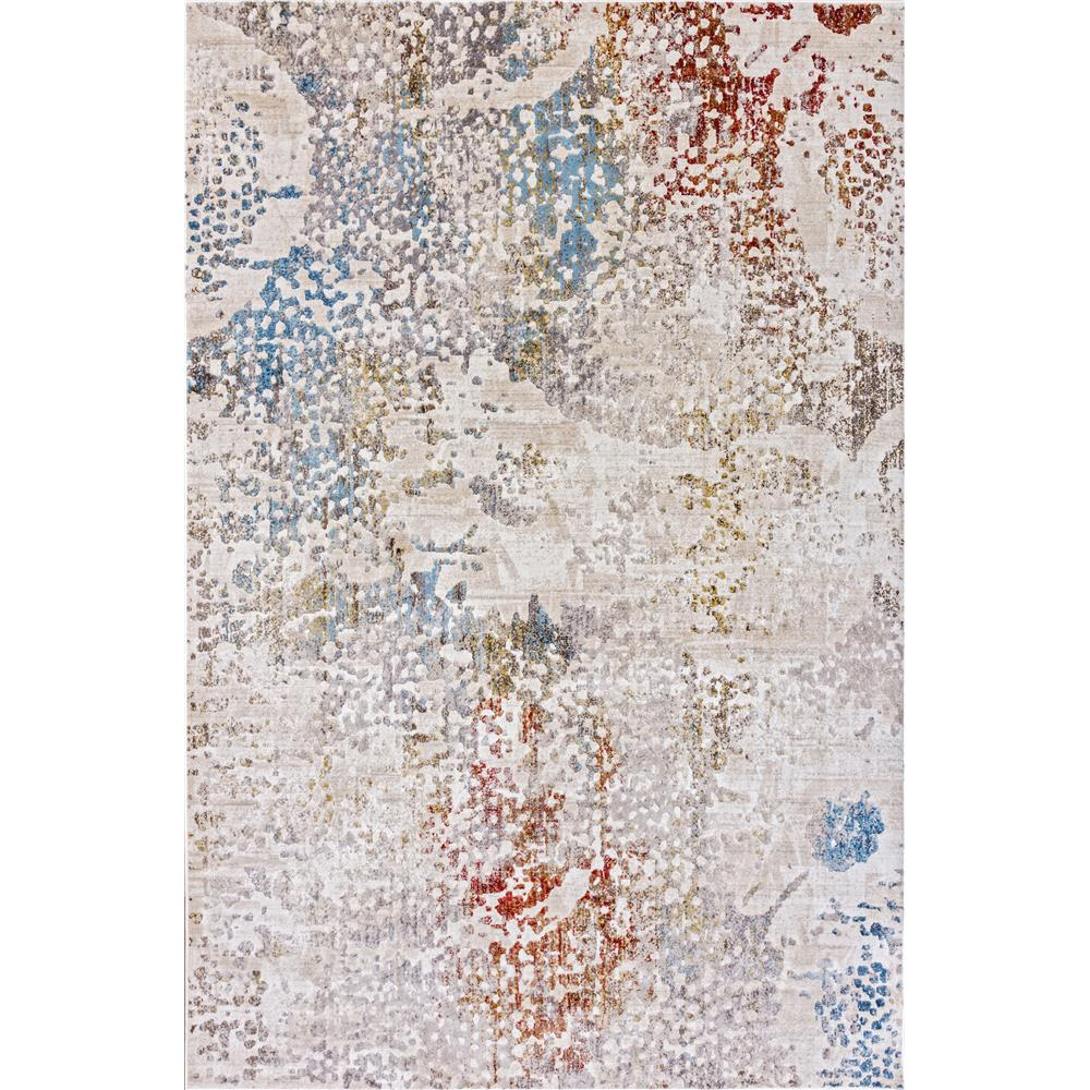 Dynamic Rugs  4446-100 Prism 2 Ft. X 3 Ft. 5 In. Rectangle Rug in Ivory/Grey