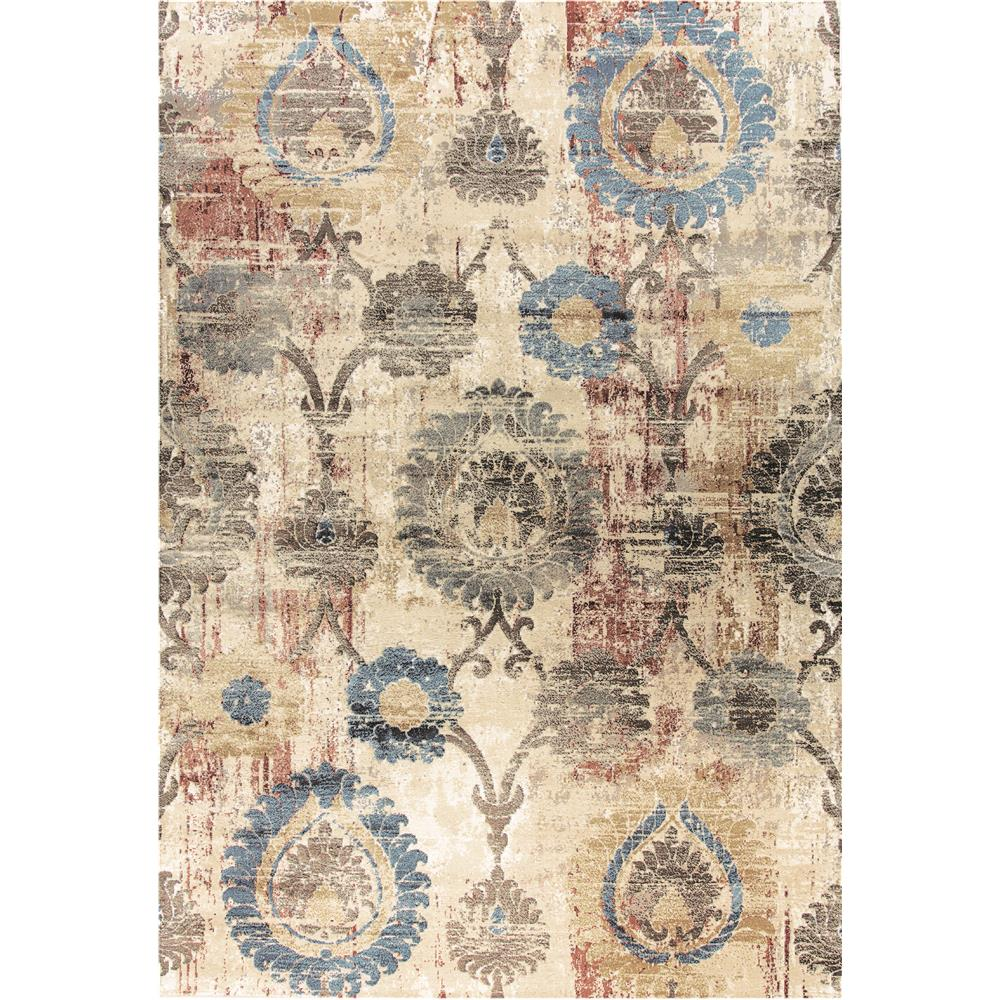 Dynamic Rugs  4450-109 Prism 9 Ft. 2 In. X 12 Ft. 10 In. Rectangle Rug in Ivory/Multi