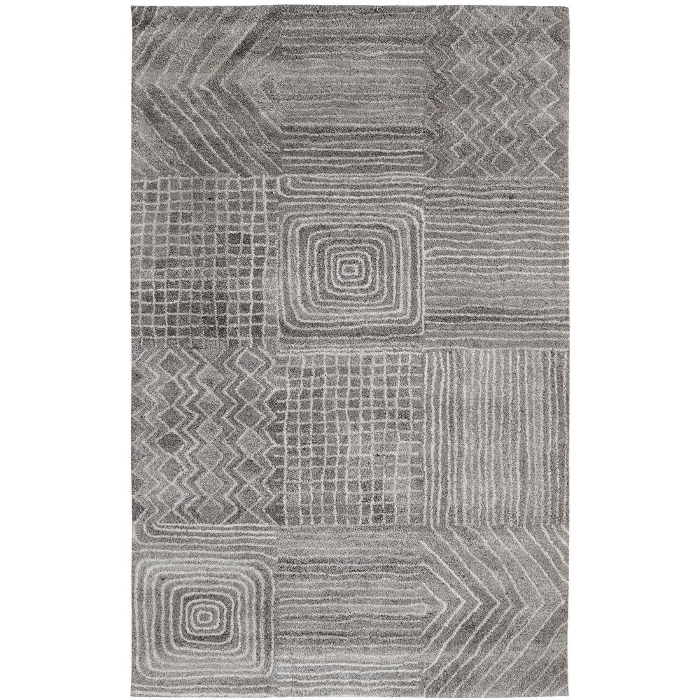 Dynamic Rugs 7804-719 Posh 4 Ft. X 6 Ft. Rectangle Rug in Grays