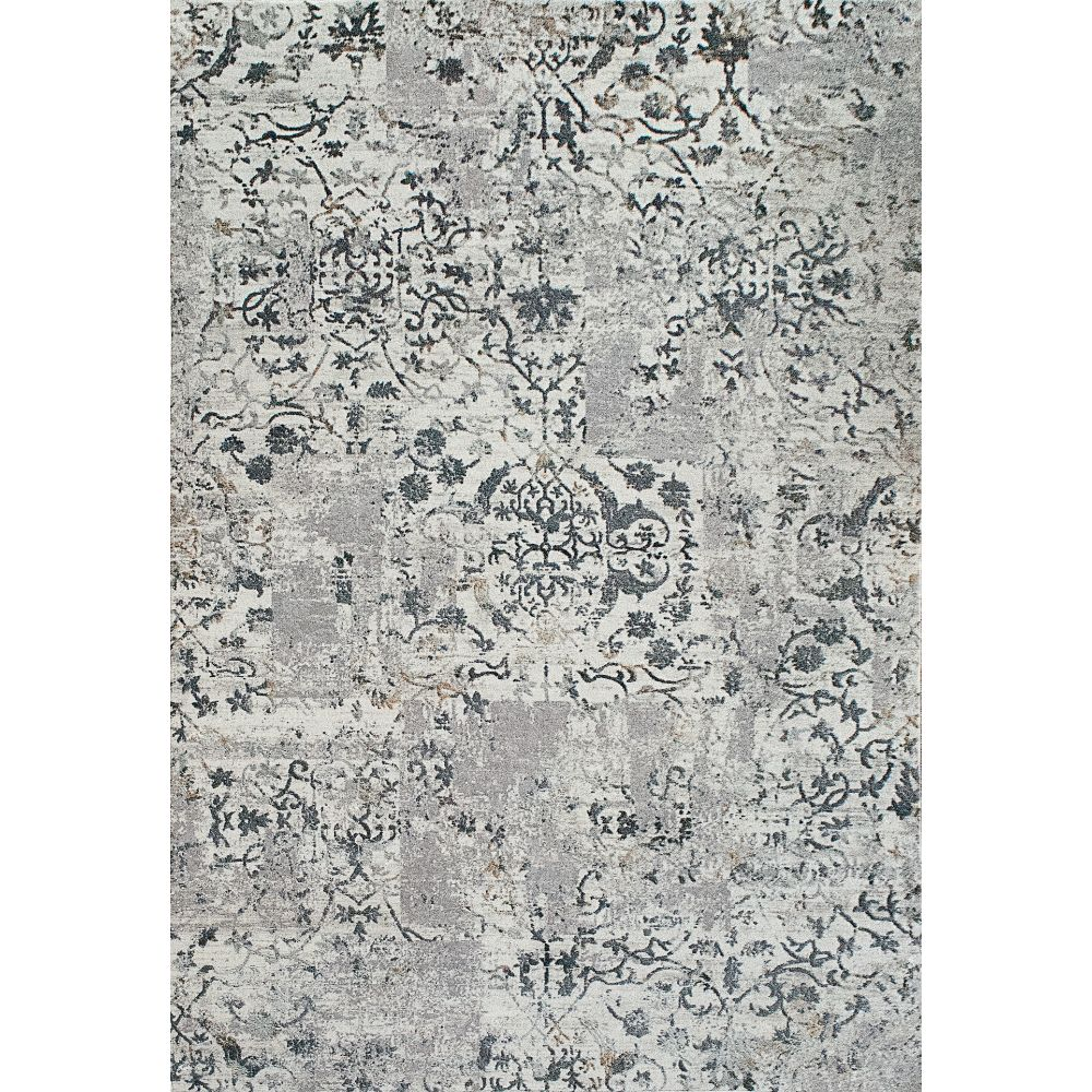 Dynamic Rugs  25010-190 Quartz 2 Ft. X 3 Ft. 11 In. Rectangle Rug in Light Grey