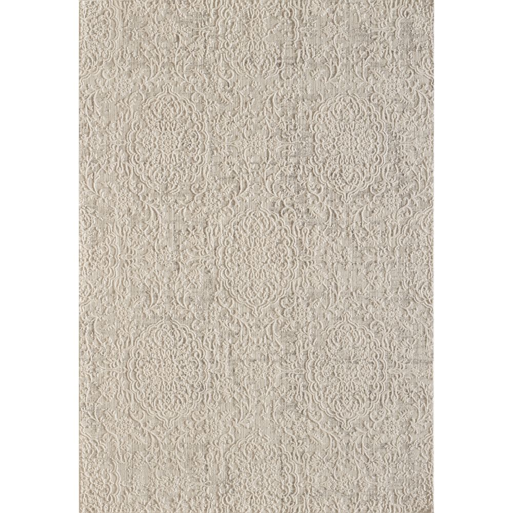 Dynamic Rugs 27030 110 Quartz 2 Ft. 2 In. X 7 Ft. 7 In. Runner Rug in Ivory/Beige