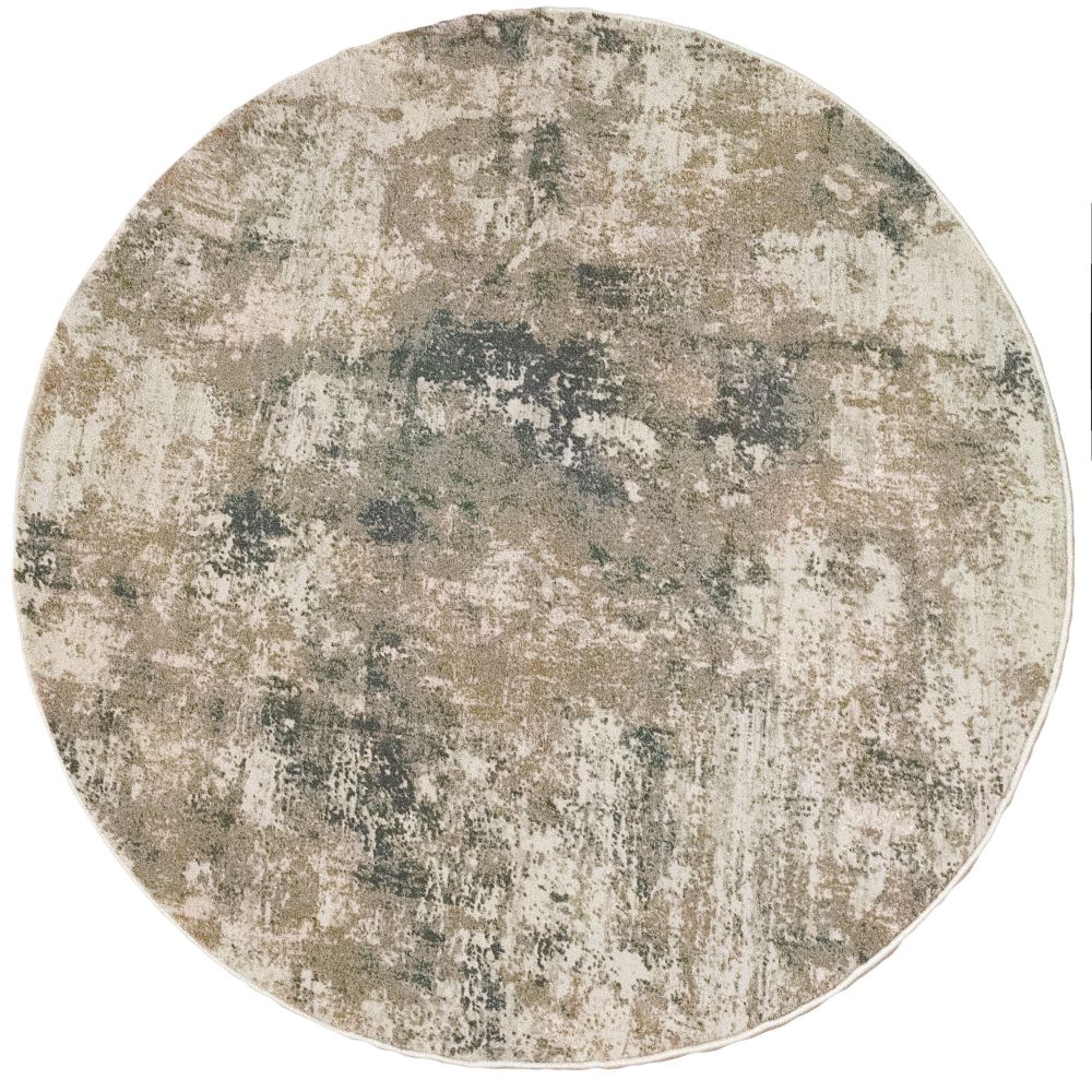 Dynamic Rugs 27031 Quartz 5 Ft. 3 In. X 5 Ft. 3 In. Round Rug in Beige/Grey